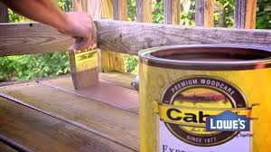 outdoor staining a deck with a roller lowes interior paint