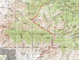 mt lemmon hiking trails map tucson trail run series