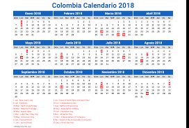 Calendario 2018 Feriados Portugal Colombia Calendario 2018 2 Newspictures Xyz