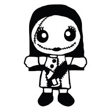 nightmare before sally doll die cut vinyl decal pv275