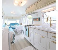 kitchen mini airstream trailer bar cabinet mosaic tile