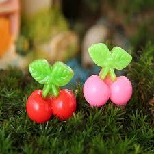 diy miniature simulation cherry ornaments potted plant garden
