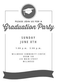 8th grade graduation cards free printable graduation party invitation templates greetings