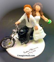 motorcycle wedding cake toppers bearded on a harley motorcycle wedding cake topper