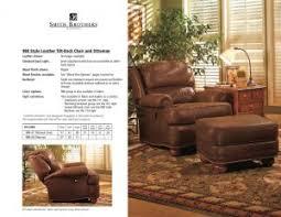 tilt back chair with ottoman 988 leather tilt back chair ottoman amish oak furniture