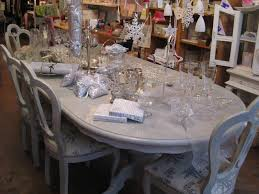 dining table painted in paris grey over cream chalk paint tm