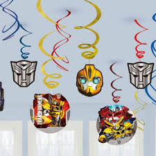 transformer decorations buy transformers swirl decorations party supplies