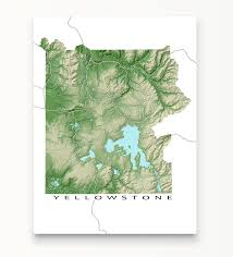 National Park Map Usa by Yellowstone National Park Map Print Usa U2013 Maps As Art
