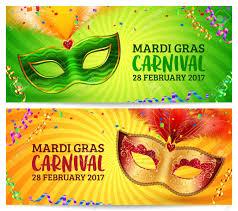 orange mardi gras green and orange carnival masks mardi gras invitation flyers