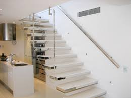 beadboard modern stairs ideas with solid black railing inside