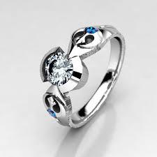 wars wedding ring rebel alliance wars engagement ring in silver palladium