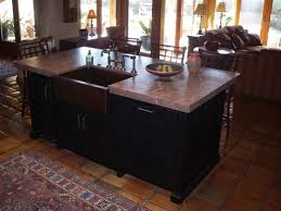 Farmhouse Kitchen Islands Kitchen Comely Ideas For Kitchen Design Using Black Wood Kitchen