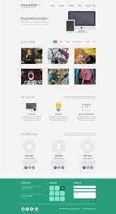 free psd minimalist one page website template designbump