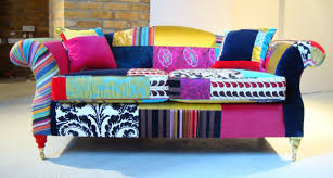 Contemporary Classic Upholstered Sofas With Mixed Fabrics - Sofa upholstery designs