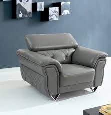 Leather Sofa Set Divani Casa Perry Modern Grey Leather Sofa Set