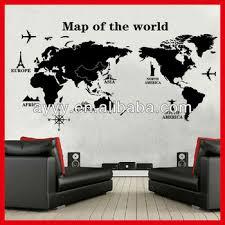 Ay9133 Hot Sale Modern Removable World Map Decor Diy Wall