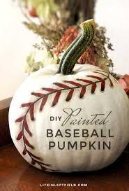 pumpkin decoration diy painted baseball pumpkin tutorials decoration and holidays