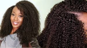 latch hook hair pictures invisible u part kinky curly wig using a crochet latch hook