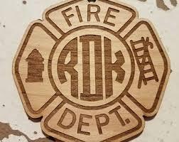 wooden maltese cross firefighter emblem etsy