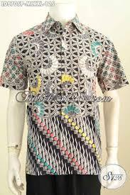 desain baju batik untuk acara resmi batik hem klasik motif kombinasi baju batik pria proses printing