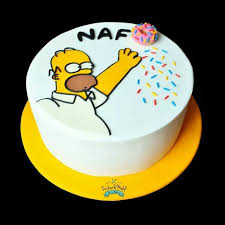 25 simpsons cake ideas cupcake frosting