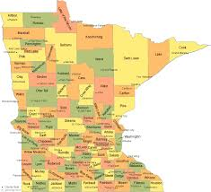 county map minnesota county map