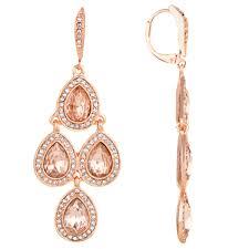 Pink Chandelier Earrings Akara S Goldtone Pink Rhinestone Chandelier Earrings 25 2