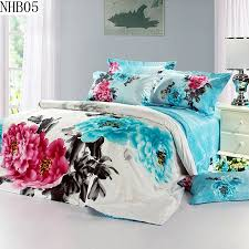high quality 100 cotton reactive printing bedding set pillowcase