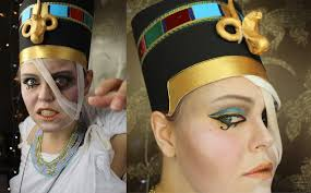the ghost of nefertiti halloween makeup tutorial part 2 youtube