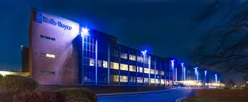 rolls royce blue rolls royce derby light it blue for autism east midlands in