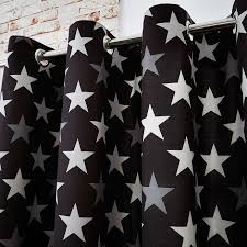 White Bedroom Blackout Curtains Kids Black Stars Blackout Eyelet Curtains Dunelm New Baby Room