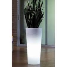 vaso resina bianco illuminazione da esterno arredamento giardino gardenup