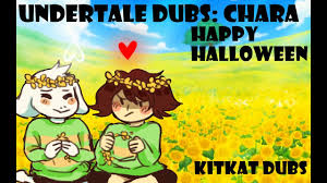 undertale comic dub special chara happy halloween youtube