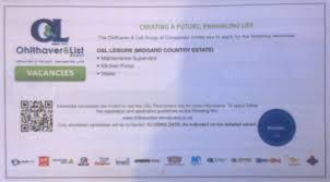 jobs in namibia job vacancies u2013 maintenance supervisor kitchen