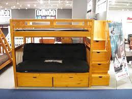 bedroom amazing wooden futon bunk bed cherry eva furniture
