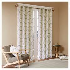 Embroidered Curtain Panels Peyton Metallic Geo Embroidered Window Curtain Panel Target