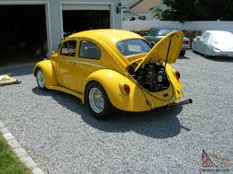 yellow baja bug pro street volkswagen beetle 2110cc mint corvette yellow