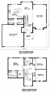 modern two story house plans double storey great room addition