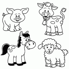 download coloring pages farm coloring page farm animals in