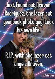 cat yearbook found out draven rodriguez the lazer cat yearbook photo took