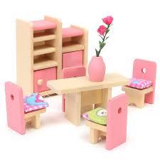 jouer cuisine bois pretend jouet jouer maison meubles miniature lit salon
