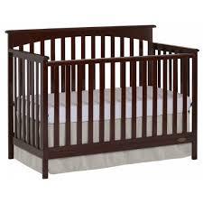 Davenport Convertible Crib On Me Davenport 5 In 1 Convertible Crib Java Walmart