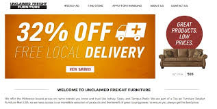 25 locations to buy unclaimed freight furniture