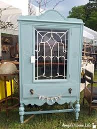 annie sloan duck egg blue u0026 old white antique china cabinet