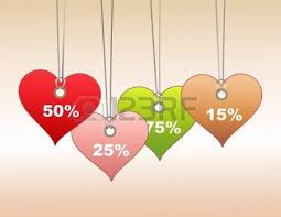 s day shopping illustration of colorful label tags in heart shape you can