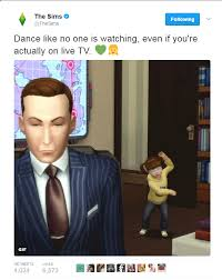 The Sims Memes - the sims devs funny tweet after a children interrupt bbc news