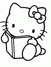 coloriage hello kitty dessins a imprimer pour les petits