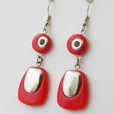 sixties earrings pop drop earrings and dangling