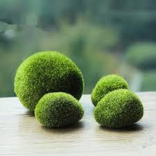 2018 gardening ornament green artificial plant moss stones grass