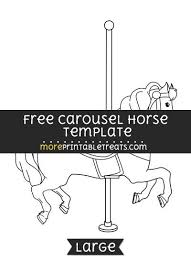 free carousel horse template large shapes and templates